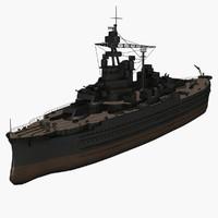 3d model of uss pennsylvania bb-38 vessel