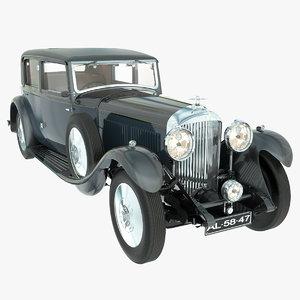 bentley 8 litre 1931 3d model