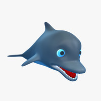 3d model cartoon dolphin