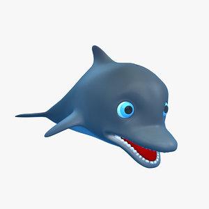 3d model cartoon dolphin