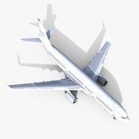 3d max airbus airliner aircraft