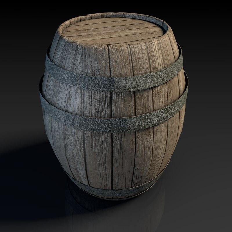 barrel contain 3d model