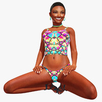 Candis-Rigged 3D Model of African American Woman