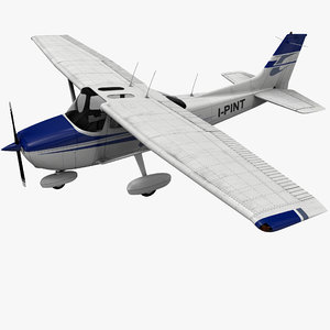 3dsmax civil utility aircraft cessna 172