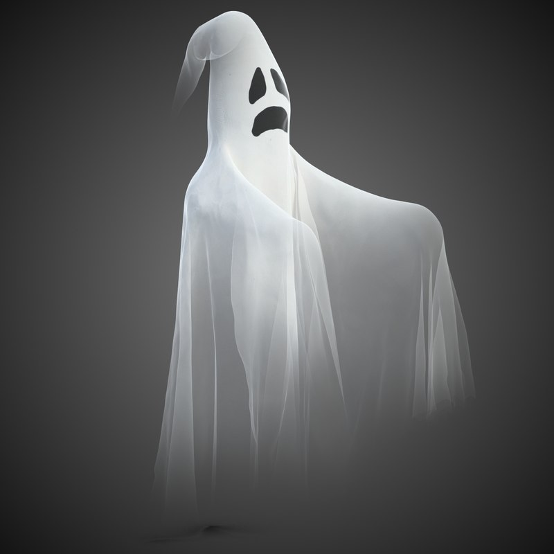 halloween ghost 1 3d max