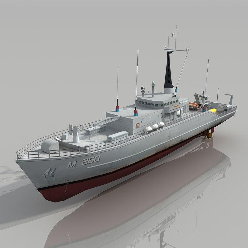 countermeasures ship 3d max
