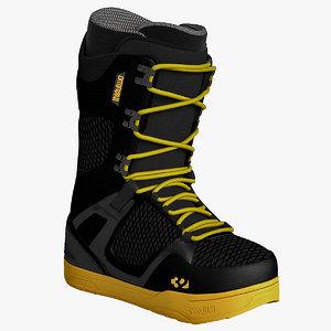 3d snowboard soft boot
