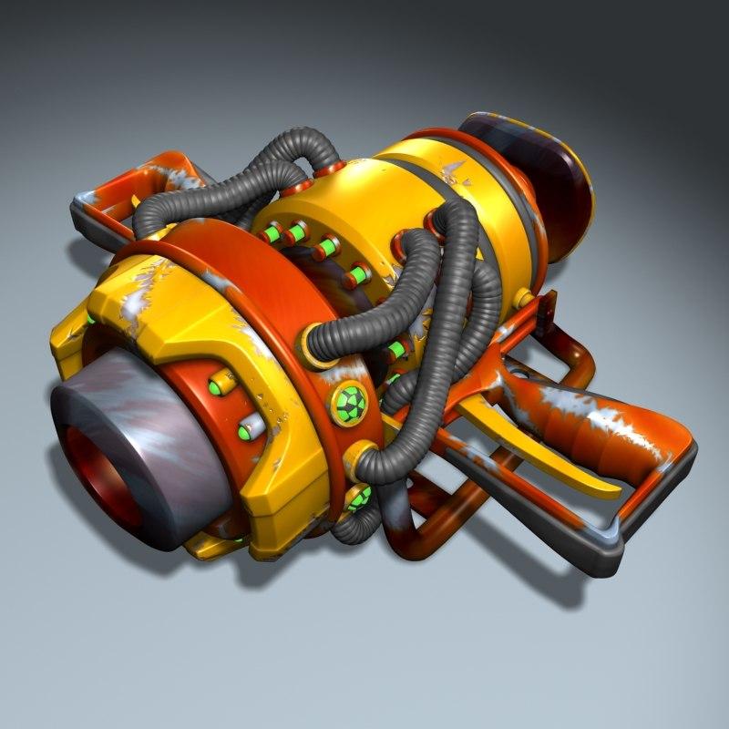 3d nukecharger gun