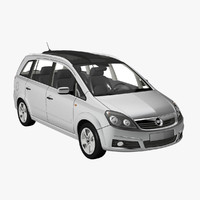 opel zafira panorama 3d model