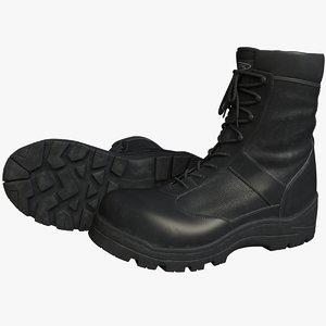 realistic military boots 3d obj