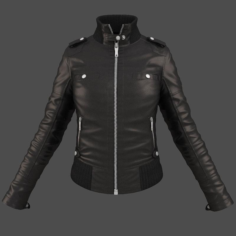 female jacket clothing 3d max