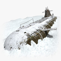 Submarine In Snow
