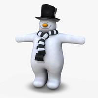 snowman christmas hat 3d model