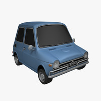 3d model toon car honda n600