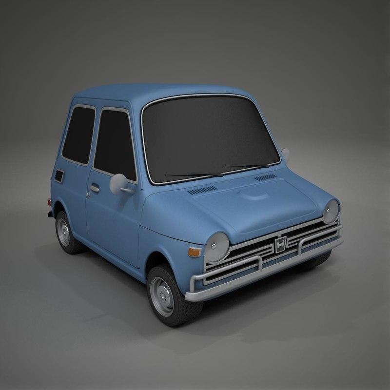 3d model toon car honda n600