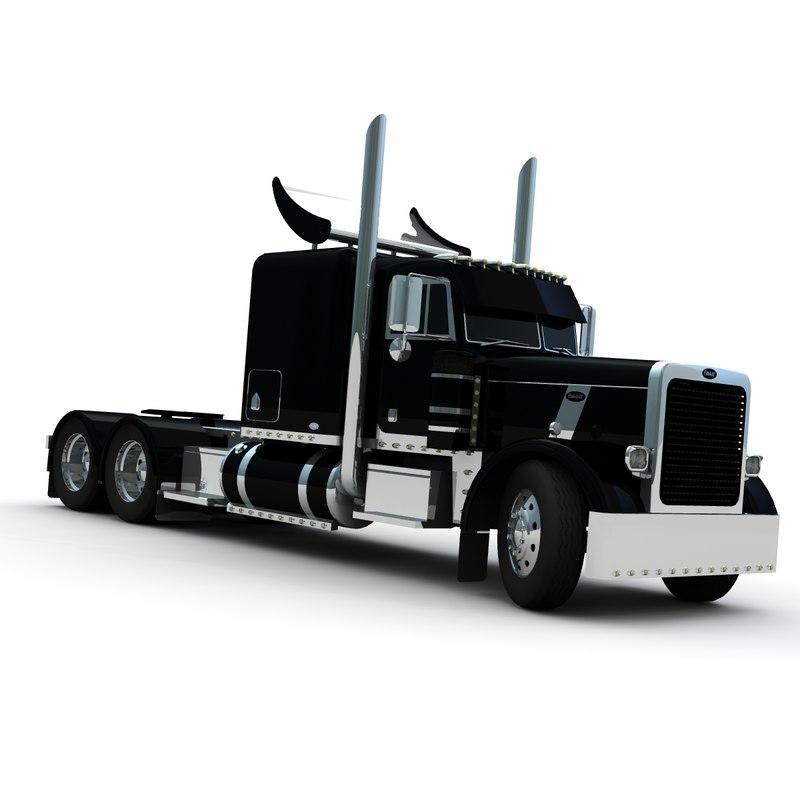 3d model 379 truck