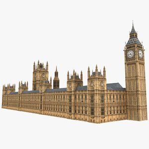 westminster parliament building 3d max