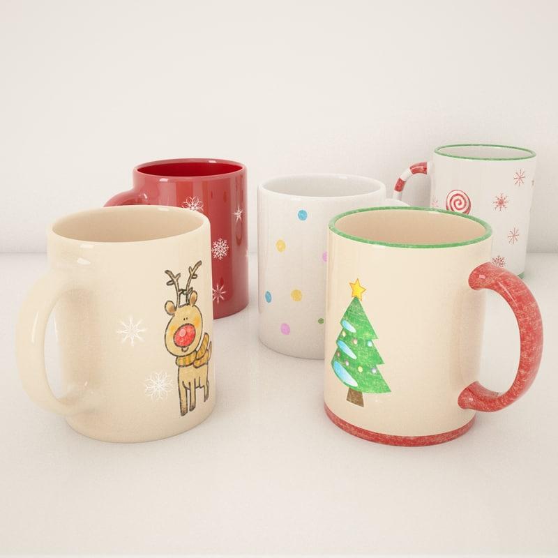 3ds christmas mugs