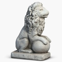 stone lion sculpture 3 3d max