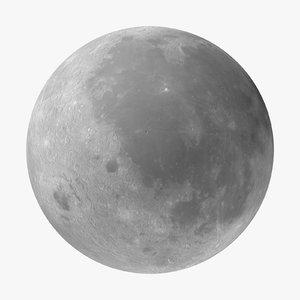 3d model moon