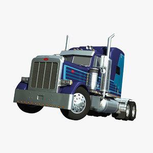 379 truck 3d model