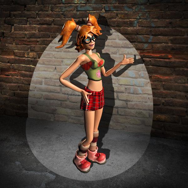amber girl 3d ma