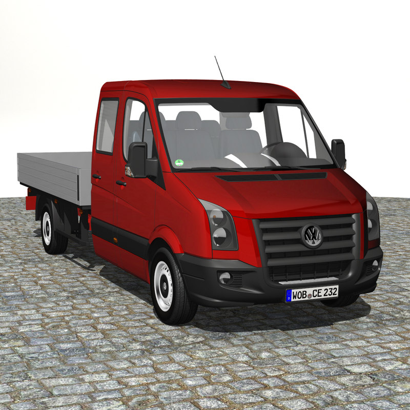 crafter pickup truck 2009 3d model