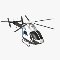 md 900 helicopter explorer 3d model