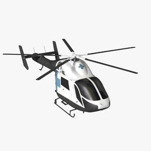 md 900 helicopter explorer 3d model