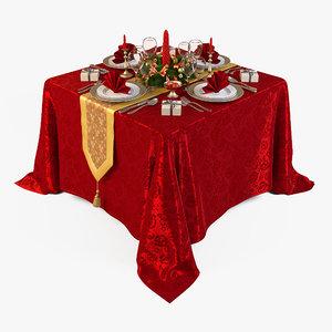christmas table obj