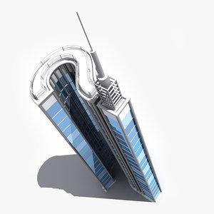 question mark skyscraper 3d model