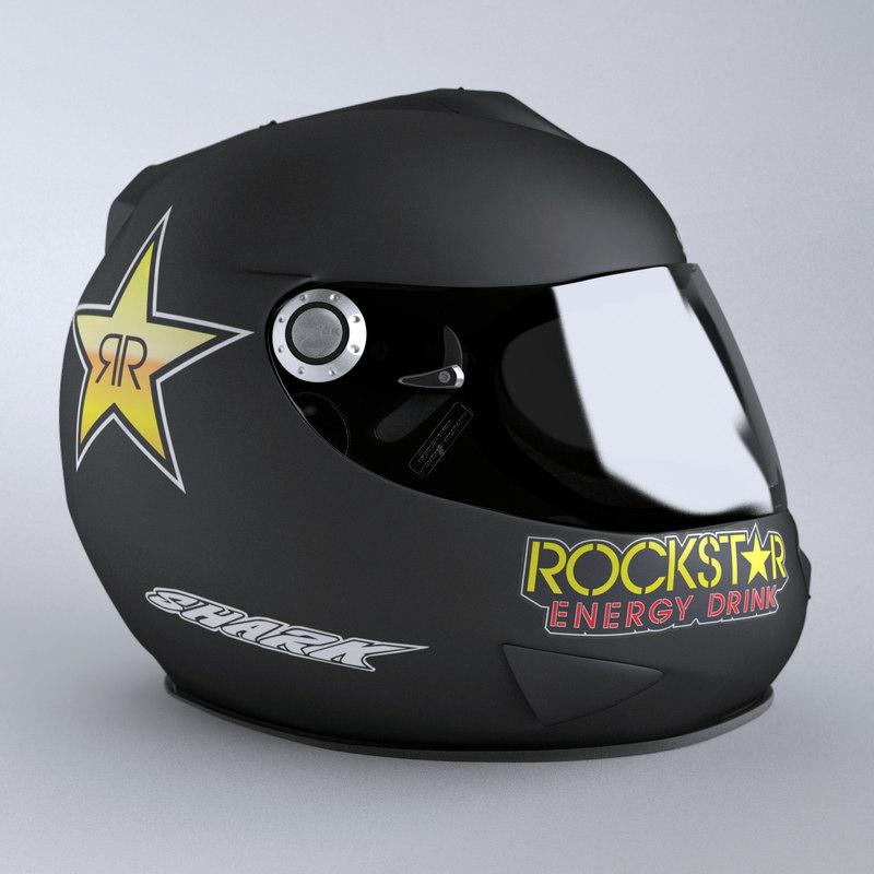 shark helmet rockstar 3d model