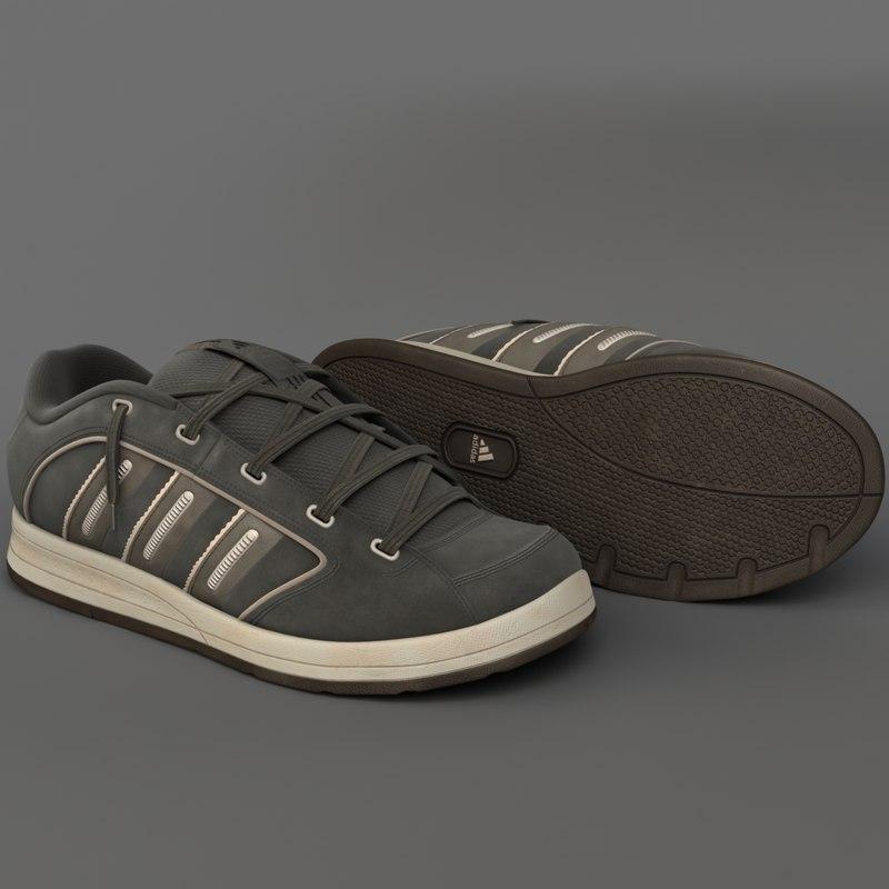 3d model realistic sneakers shoe