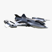 space fighter fi 3d dxf
