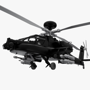 helicopter ah-64 apache 3d obj