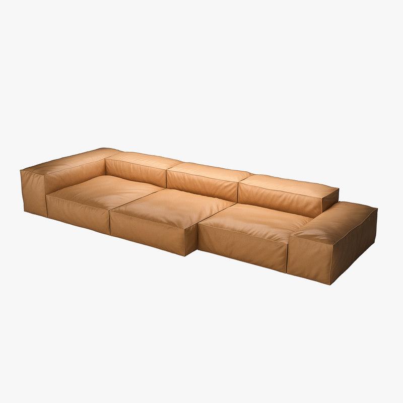 max piero extrasoft sofa leather