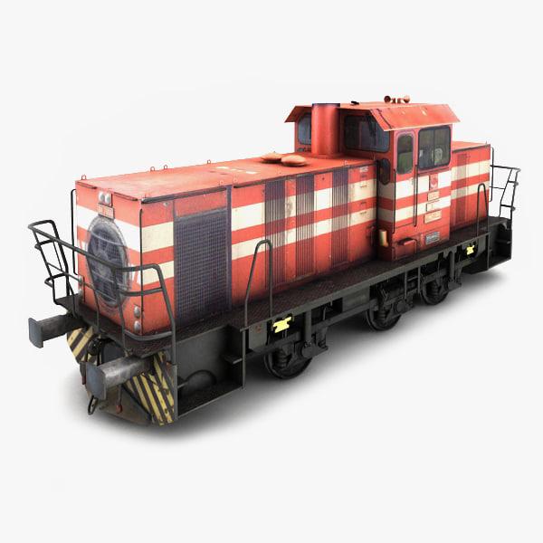 3d model tcdd dh 7006 locomotive