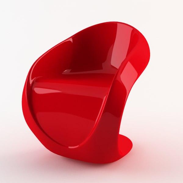 3d chair furniture lounge