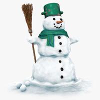 3ds snowman snow man