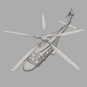 agustawestland aw139 helicopter 3d max