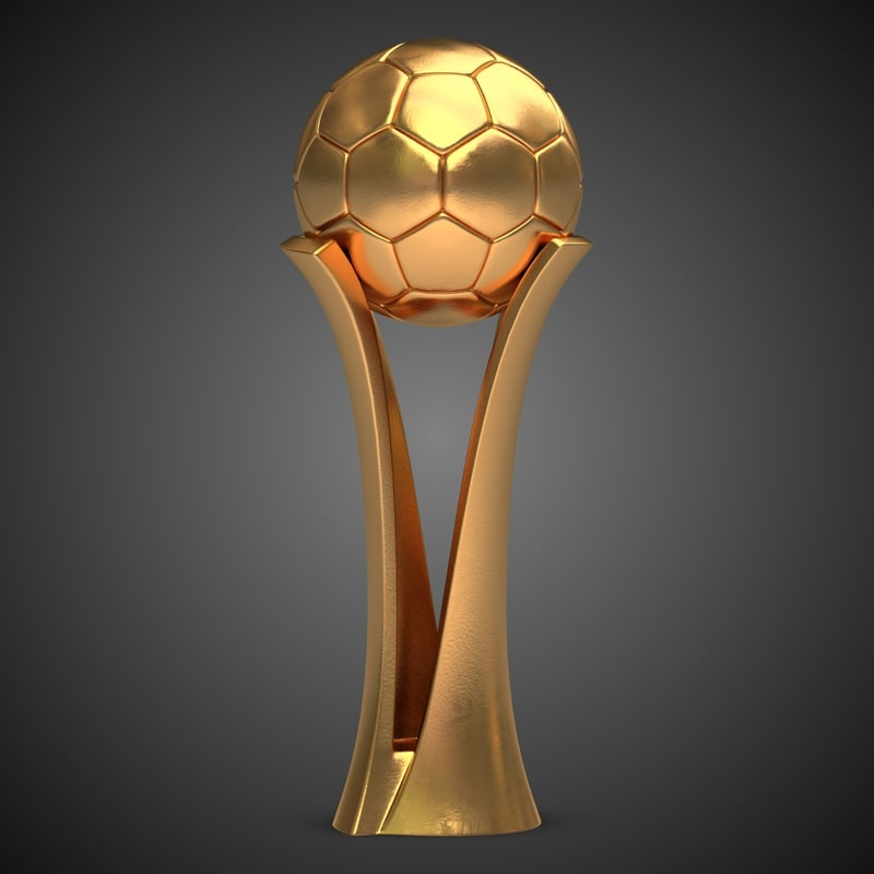 3d model football award cup