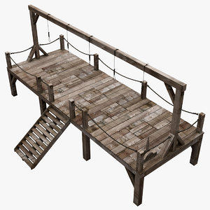 3ds max medieval gallows