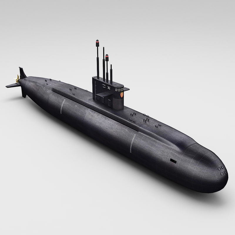 russian lada class submarine 3d 3ds