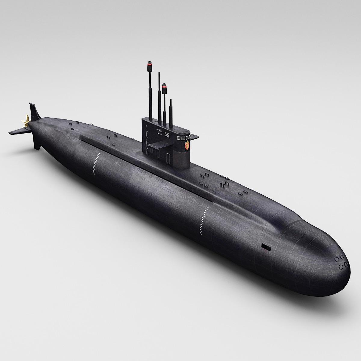 russian lada class submarine 3d 3ds