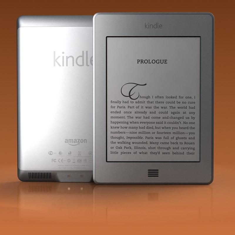 3d kindle touch model