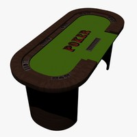 3d model poker table