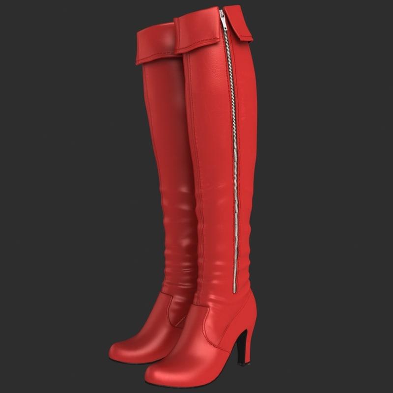 female boots 3d max
