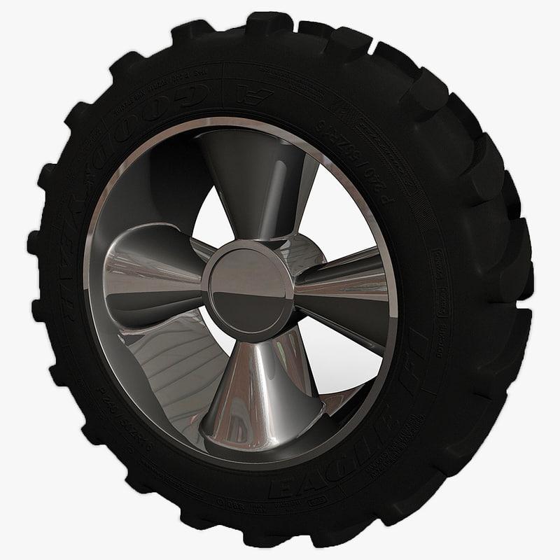 3d tractor tire model