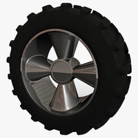 3d tractor tire model