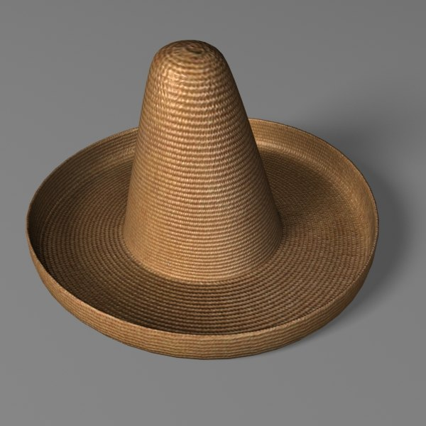 straw sombrero 3d 3ds